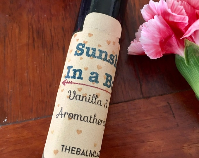 Sunshine in a Bottle Aromatherapy Essential Oil Spray Roller Bottle Uplifting Calming Happiness Oil