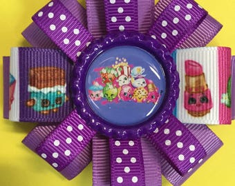 """3"""" handmade french barrette Shopkin hair bow!"""