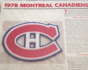 Montreal Canadiens Patch NHL Hockey Willabee & Ward Official 1978 Jersey Patch