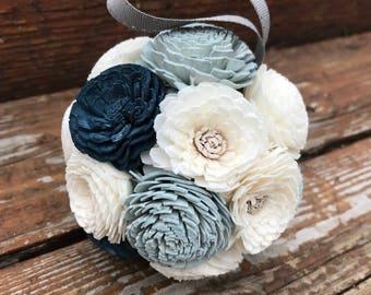 Winter Blues Kissing Ball Ornament