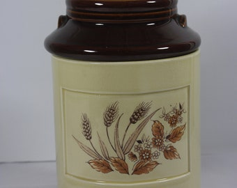 Milk Can Ceramic Canister  Made In Japan Vintage Wheat Design Vintage 1970's