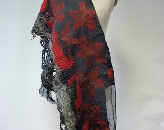 Amazing exceptional scarf with silk. Artsy and fashion.