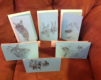 Blank greeting cards with envelope