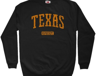 Texas Represent Sweatshirt - Men S M L XL 2x 3x - Crewneck Texas Shirt - 4 Colors