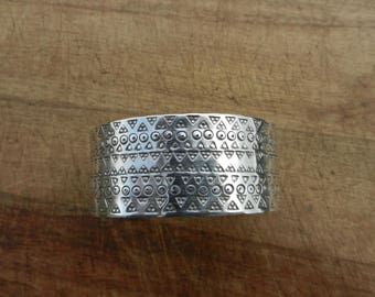 Replica Viking style chunky cuff bracelet made from 2mm thick Stirling Silver.