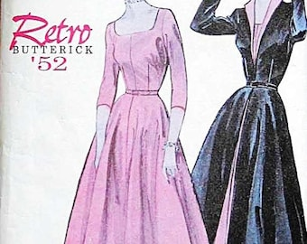 Butterick Retro 1950s women's dress and overdress reissued pattern uncut and factory folded Out of Print