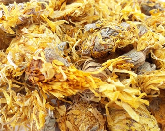 Dried Calendula Flowers, 250g, Candle, Soap, Bath Bomb, Bath Tea, Soak, Herbal Soak, Tincture, Infusion, Dried Flowers, Marigold Flowers