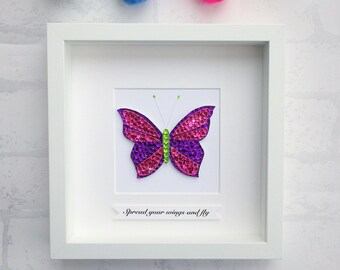 Butterfly wall art, spread your wings and fly, butterfly gifts, girls room decor, gifts for her, home decor, wall art