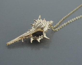 Gold Necklace - Shell Necklace - Beachy Necklace - Boho Necklace - Festival Necklace - handmade jewelry