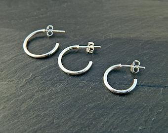 Sterling Silver Hoop Earrings - Silver Hoop Earrings - Tiny Hoop Earrings - Hoop Earrings - Small Hoop Earring - Silver Hoop Tiny,039H