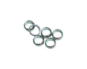 6 silver ring wide thick solid 8 mm width 3mm