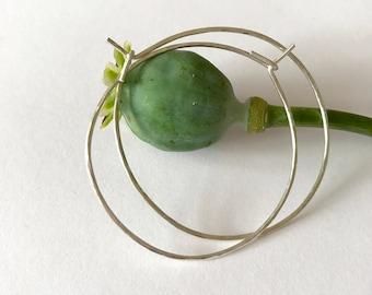 Lightly hammered  sterling silver hoop earrings, textured hoops, fine hoop earrings, silver hoops, sterling silver hoops, christmas present