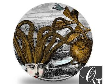Octopus Platequirky sealife platessealife dinnerwarehousewareskitchen decormelamine  sc 1 st  Etsy & Octopus dinnerware   Etsy