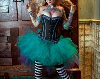 Adult tutu skirt Bustle back streamer peacock carnival halloween costume bridal dance gogo run  --You Choose Size -- Sisters of the Moon