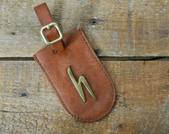 Vintage Hartmann Luggage Tag Leather Suitcase ID Holder