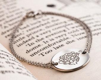 The Little Prince Rose - Silver Rose - Silver Rose Bracelet