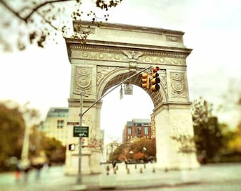 New York Photography, NYC Photograph, Bedroom Wall Art Print, New York City Picture, Greenwich Village, Washington Square Arch Photo, 8 x 10