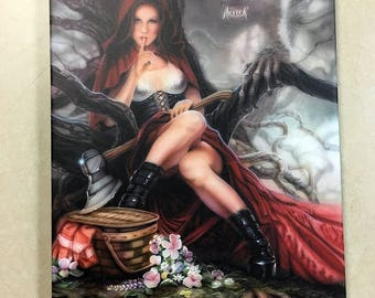 Red Riding Hood Artist Signed Canvas Print