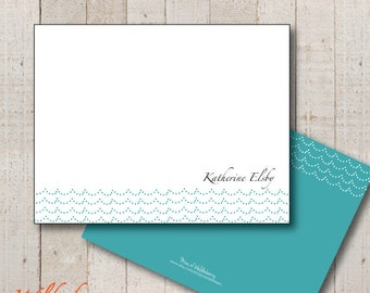 Dotted Waves Stationery // Beach Stationery Thank You // Baby Thank You
