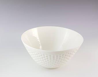 Bol Creusé en Porcelaine fait à la main.Made in France.