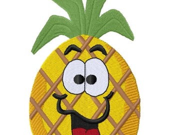 Fruits of the Spirit - Pineapple - Joy (3.11 x 5.33) Iron-on Patch - Iron on Patch - Embroidered Patch - MADE TO ORDER