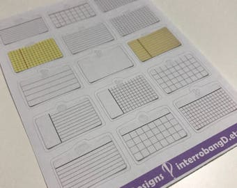 A126 - Notecards - Planner Stickers