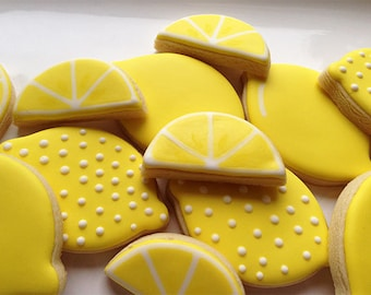 Lemon shaped cookies