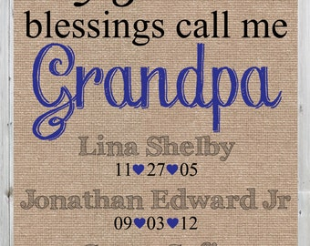 Father's Day Gift, Father's Day Gift for Grandfathers, Dad, Daddy, Grandpa, Greatest Blessings 11x14 poster, DIGITAL FILE