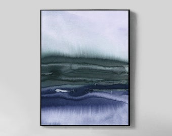 Printable Art Blue Landscape Large Abstract Large Wall Art Blue Wall Art Abstract Watercolor Abstract Watercolor Print Abstract Printable