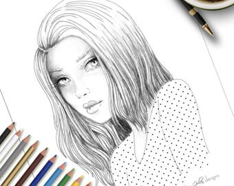 Printable Colouring Page Emily