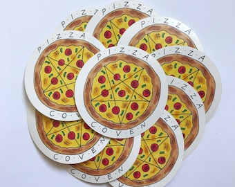 Pentagram Pizza Sticker