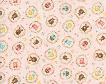 Home Sweet Home Pink Goldies Story 20573 12 by Stacy Iset Hsu for Moda