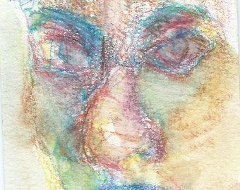 Original ACEO Watercolor Painting- My Fading Memory of my Friend