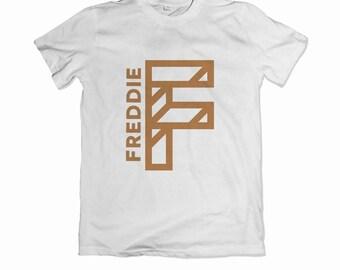 Personalised children's geometric initial t-shirt