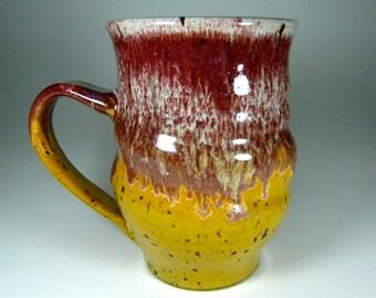 LARGE Mug, 18 oz, handthrown ceramic mug, stoneware pottery mug, unique coffee mug  Ask a Question