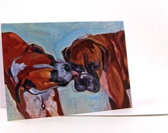 Pet Portrait Greeting Card Boxer Dog