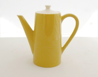 Delightful Midcentury Yellow Coffee Pot
