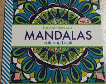 Adult Coloring Book Hand-Drawn Mandalas Vol. 2 Anti-Stress Relief Patterns Relaxation Artful Color Pages
