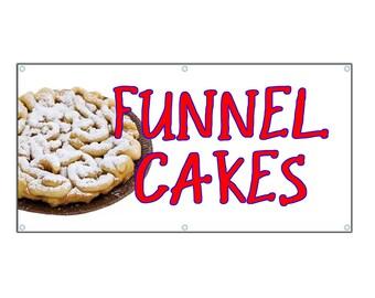 Funnel Cake Vinyl Banner