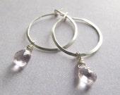 Amethyst earrings Silver ...