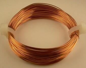 COPPER WIRE  26ga   2 oz  180 ft  solid bright  copper wire