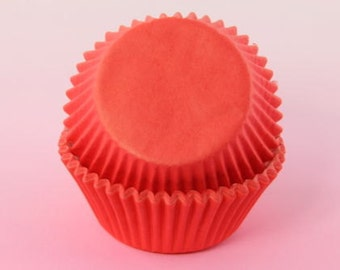 Red 1000x, Cupcake Liners, 2'' Standard Size Baking Cups, Muffins