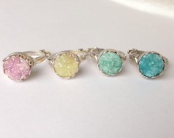 10% Off Genuine Druzy Adjustable Ring