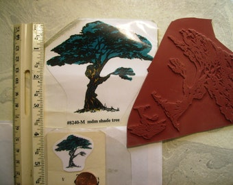 tree  shade tree 2 sizes rubber stamps un-mounted scrapbooking rubber stamping
