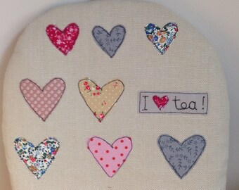 Tea Cosy Decorated with Free Motion Embroidery and Applique
