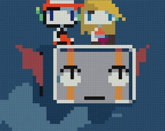 Cave Story - Quote, Curly and Balrog Cross Stitch Pattern