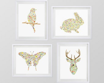 """ANY 4 11x14"""" Watercolor Art Prints from my Shop"""