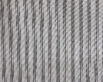CLASSIC TICKING Nickle gray and White multipurpose fabric