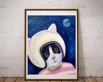 Space Kitty print
