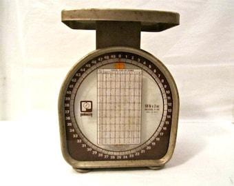 Balance postale, 50 livres. L'échelle de Pelouze, balance de cuisine Vintage Postal